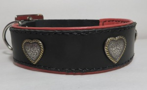 leather collar coral closed