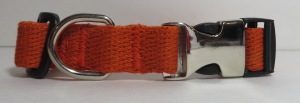 three fourths orange smooth hemp collar